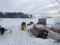 Hauling Lumber on the Ice