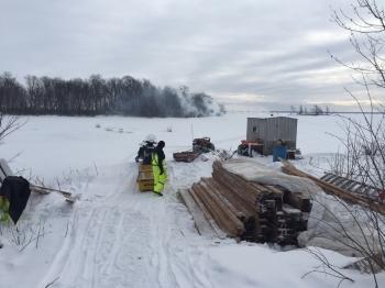 Hauling Lumber on the Ice