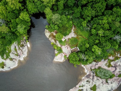 Aerial of Bunkie